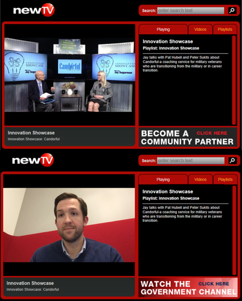 Jay Sugarman of NewTV interviews Candorful Cofounders, Pat & Pete